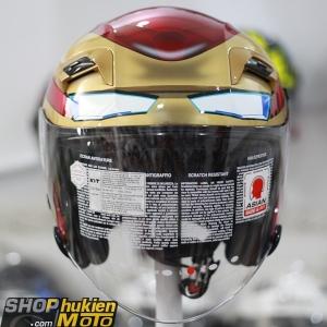 KYT 3/4 Iron man Marvel ( KYT 3/4 2 kính)